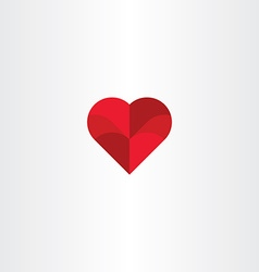 Red heart background love icon vector
