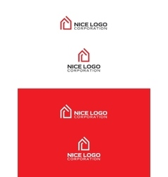 red house logo vector image