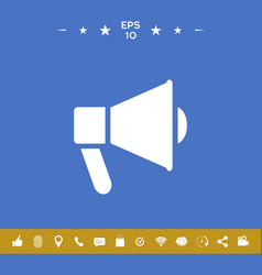 Speaker bullhorn icon vector