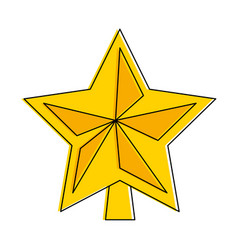 star decorative isolated icon vector image