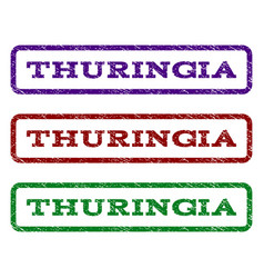 Thuringia watermark stamp vector