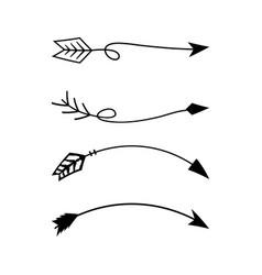 Tribal arrow icon design set bundle template vector
