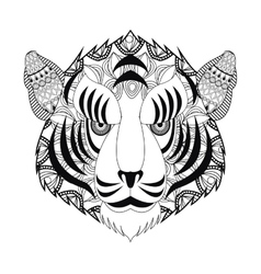 Tribal tiger head icon vector