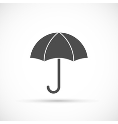 Umbrella icon on white vector