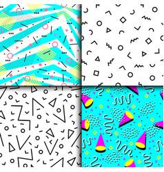 universal memphis 80-90 seamless pattern endless vector image
