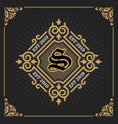 vintage luxury banner template design for label vector image