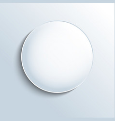 white glass sphere shape button vector image