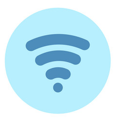 wifi icon wireless internet connection on blue vector image