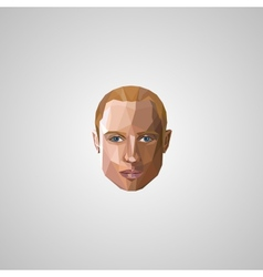 with an blond man face in polygonal style vector image