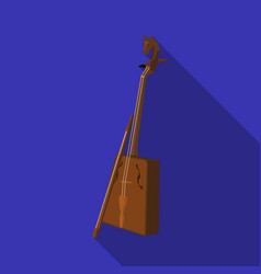wooden musical instruments of mongol national vector image