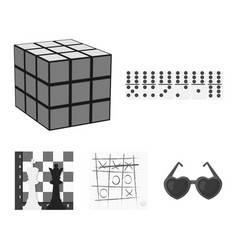 Board game monochrome icons in set collection for vector