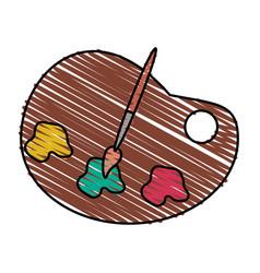 color crayon stripe cartoon watercolor palette art vector image vector image