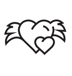 hearts mini with wings vector image