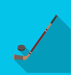 hockey stick and washer canada single icon in vector image vector image