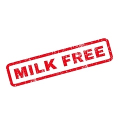 Milk Free Rubber Stamp vector image vector image