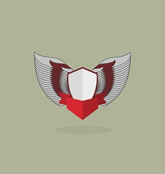 shield with wings vintage heraldic shapes vector image vector image
