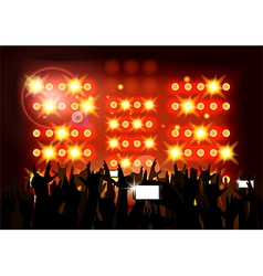 Background crowd of party people vector image