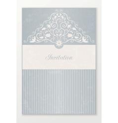 Beautiful wedding invitation vector image vector image