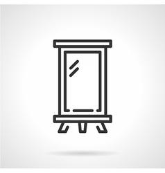 Billboard black line icon vector image vector image