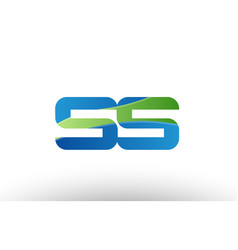 blue green ss s s alphabet letter logo vector image vector image