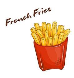 isolated cartoon hand drawn fast food french fries vector image vector image