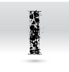 Letter I formed by inkblots vector image vector image