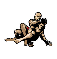 mma fighting vector image vector image