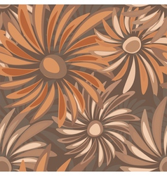 Retro floral seamless texture with asters vector image vector image