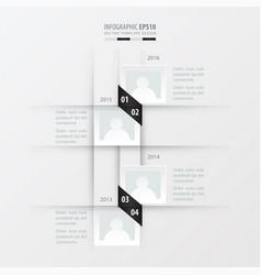 timeline design black and white color vector image