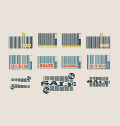 bar code collection vector image