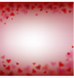love valentines day card with blur and sweet vector image vector image