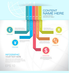 modern graph design or infographic design vector image vector image