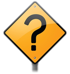 Question mark sign vector