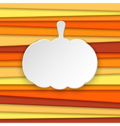 Halloween pumpkin striped background with place vector image vector image