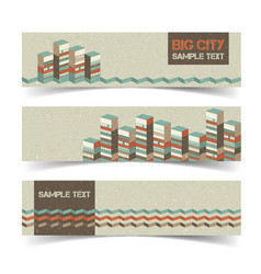 horizontal architectural banners set vector image