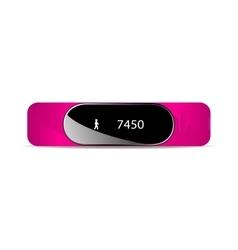 Rubber bracelet for fitness vector