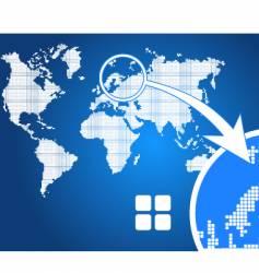 stylish world map square vector image vector image