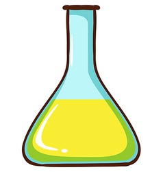 A simple coloured sketch of a lab glassware vector image