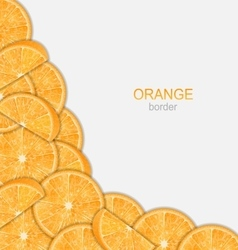 Abstract Border with Sliced Oranges vector image