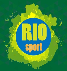 Abstract rio sport design with blue circle vector image