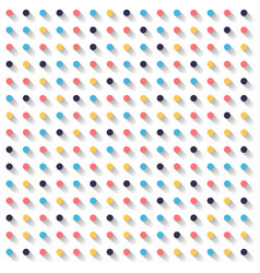Abstract striped circles dots colorful and shadow vector