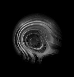 abstract white mesh sphere on dark vector image