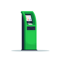 Atm for payment semi flat rgb color vector