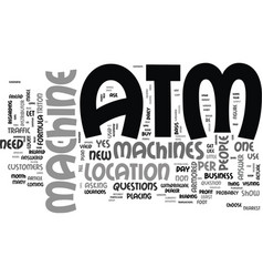 atm machines does your business need one text vector image