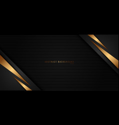 banner web template gold stripes triangle vector image