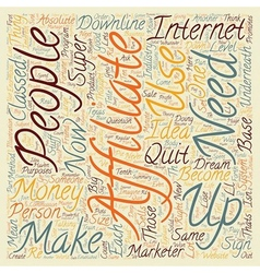 Become A Super Affiliate text background wordcloud vector image