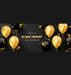 Black friday luxury background with balloons and vector