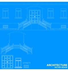 Blue architecture background vector