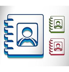 book icon se vector image