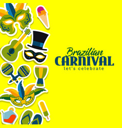 brazilian carnival template vector image